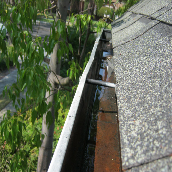 Rain Gutter Cleaning After